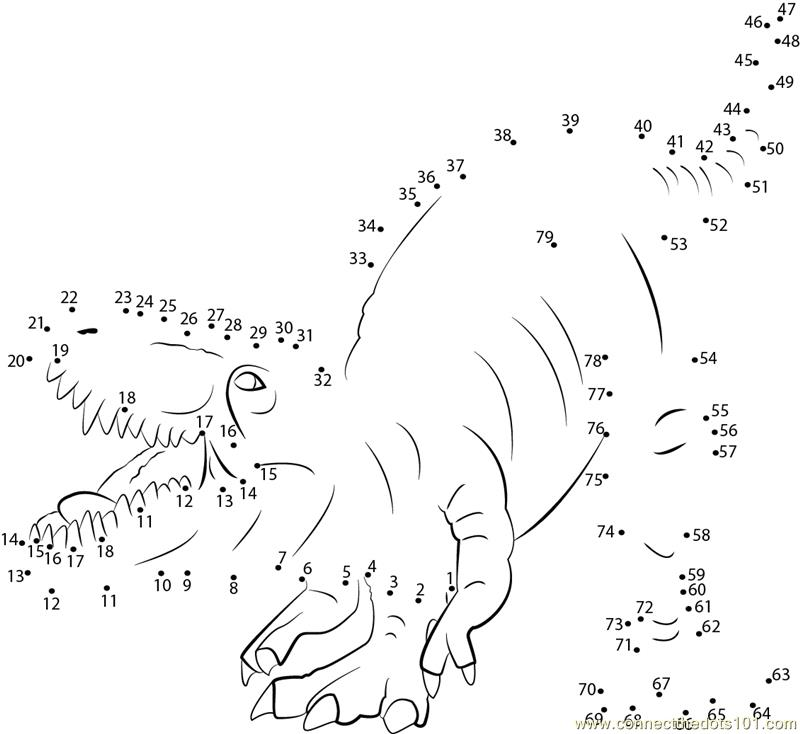 Dinosaur Dot To Dot Tracing