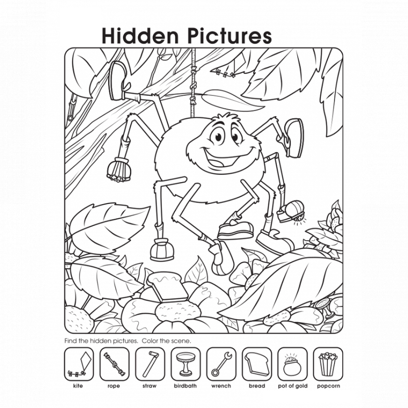 find the hidden objects coloring pages - printable hidden pictures worksheets activity shelter